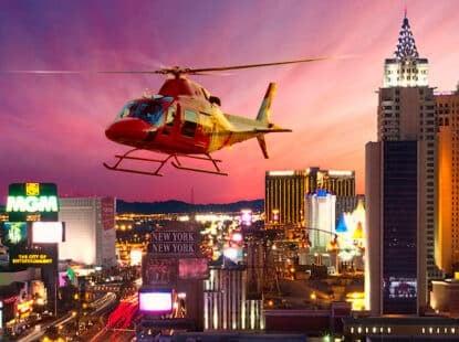 Paseo en Helicóptero por Las Vegas de Noche